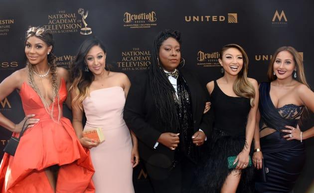 Tamar Braxton, Tamera Mowry-Housley, Loni Love, Jeannie Mai, and Adrienne Bailon:43rd Annual Daytime Emmy Awards
