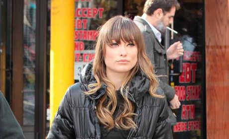 Olivia Wilde on Set