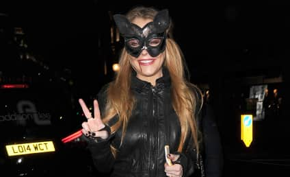 Lindsay Lohan Rocks Fake Engagement Ring at Halloween Party, Continues to Be Ridiculous