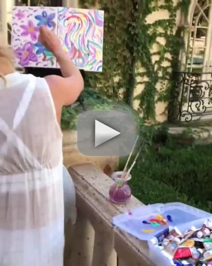 Britney spears paints while listening to mozart