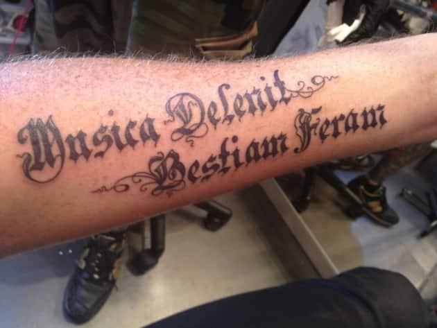 Adam Lambert Tattoo