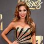 Farrah Abraham in a Gold and Black Dress