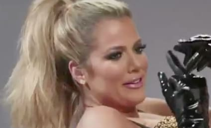 Khloe Kardashian Promotes New Show From Inside a Martini Glass