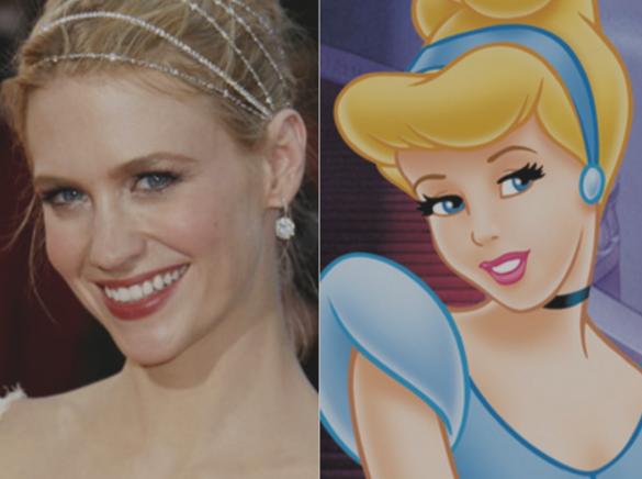 January Jones & Cinderella