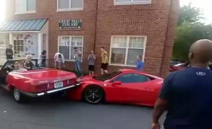 Ferrari Gets DESTROYED in Worst Parallel Parking Job Ever