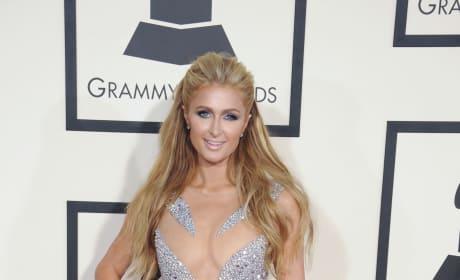 Paris Hilton at the 2015 Grammys