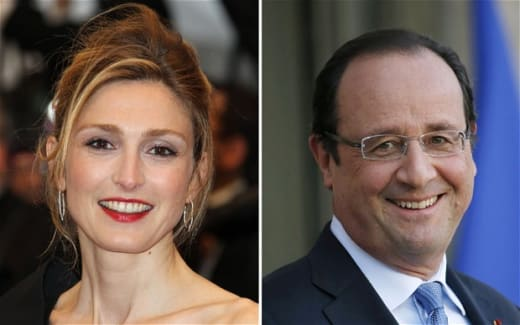 Julie Gayet and President
