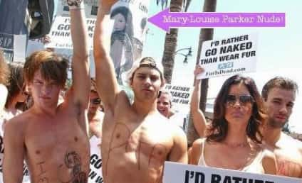 Janice Dickinson, Nude Morons Rally for PETA