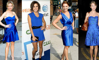 Celebrity Fashion Face-Off: Beauties in Blue