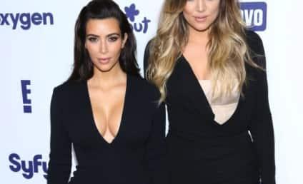 Kim Kardashian Flaunts Crazy Cleavage, Khloe Talks Vaginas on Upfront Red Carpet