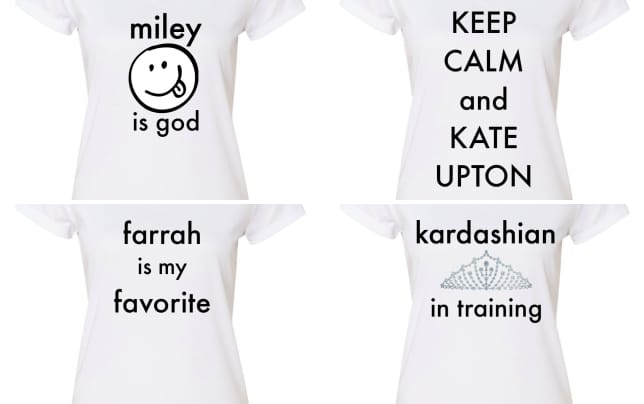 Celebrity inspired offensive t shirts religion