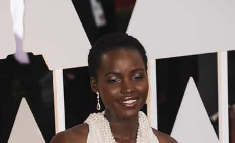 Lupita Nyong'o at the 2015 Oscars