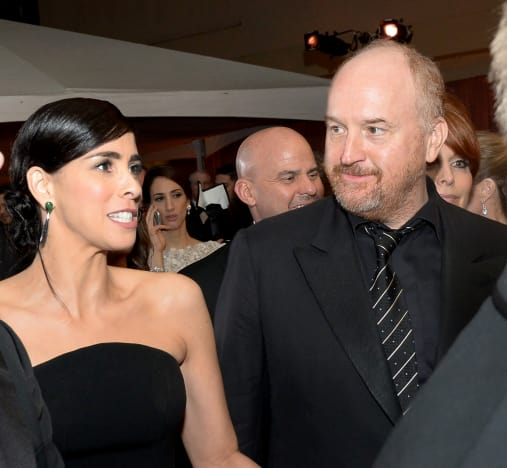 Sarah Silverman and Louis C.K