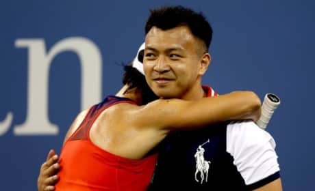 Francesca Schiavone Hugs Ball Boy
