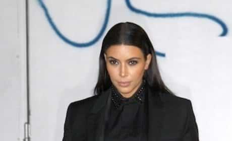 Kim Kardashian Goes Black