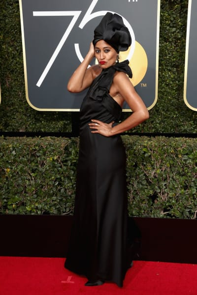 Tracee Ellis Ross at the Golden Globes