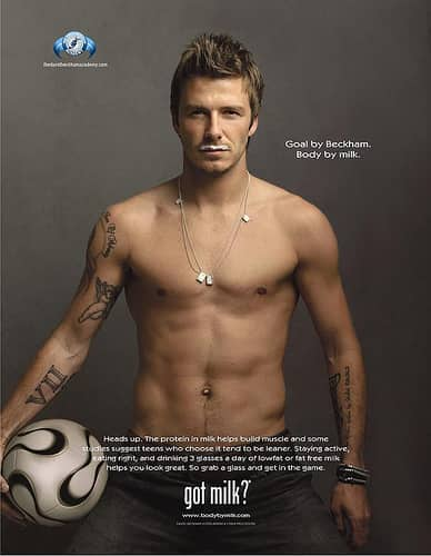 David Beckham, Got Milk
