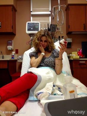 Kyra Sedgwick Hospital Pic