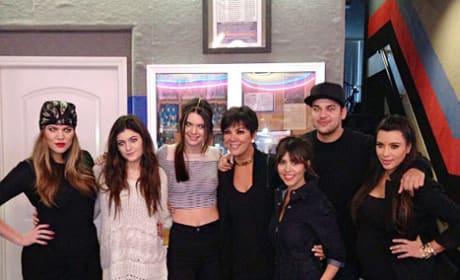 The Kardashians at Bowling