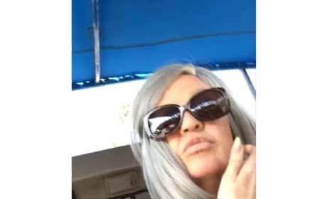 Khloe Kardashian in Disguise on Hollywood Tour