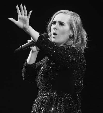 Adele in Black/White