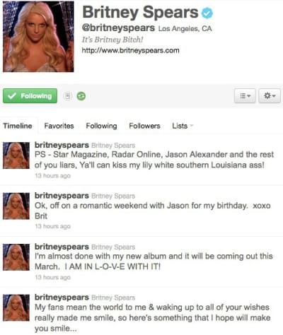 Britney Tweeting