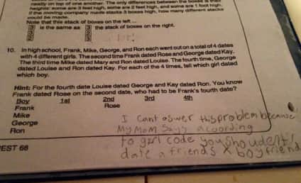 Fourth Grader Schools Teacher's Math Question With Girl Code