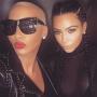 Amber Rose and Kim Kardashian Together Photo
