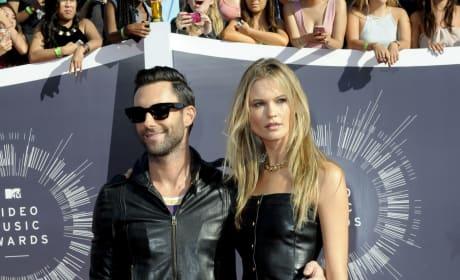 Adam Levine and Behati Prinsloo at the VMAs