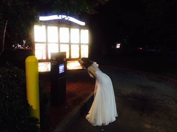 Drunk Bride at Taco Bell