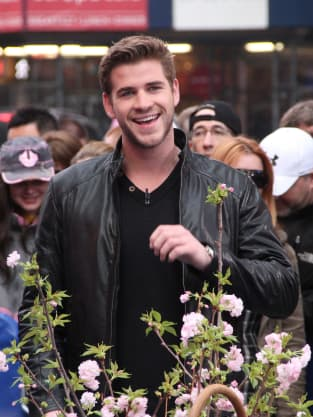 Liam Hemsworth Laughs