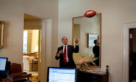 Barack Obama, Football