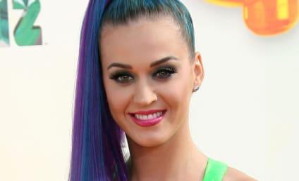 Katy Perry Rocks Slime Sports Bra at Kids' Choice Awards