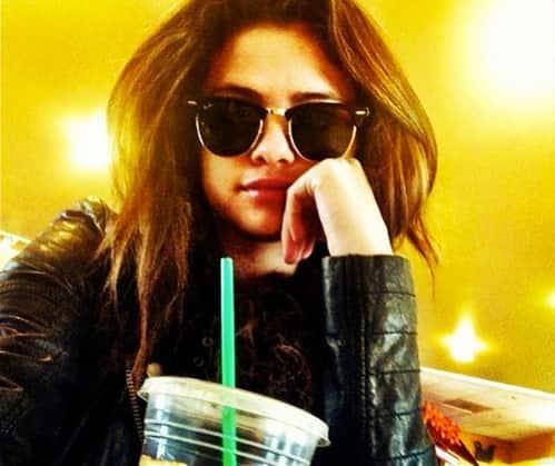 Selena at Starbucks