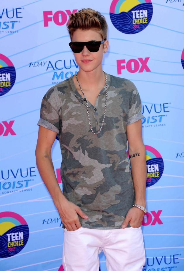 Justin Bieber at Teen Choice Awards