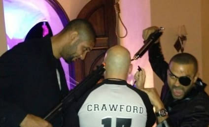 Tony Parker, Tim Duncan Hold Guns to NBA Ref's Head in Halloween Party Photo