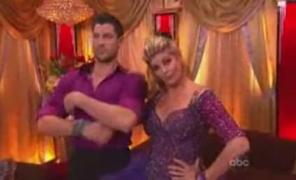 Kirstie Alley, Maksim Chmerkovskiy Kiss on Dancing With the Stars!
