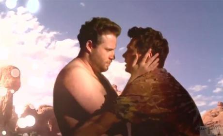 """James Franco and Seth Rogen Film """"Bound 3"""""""