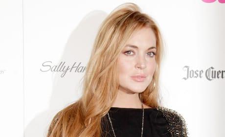 Lindsay Lohan on a Red Carpet