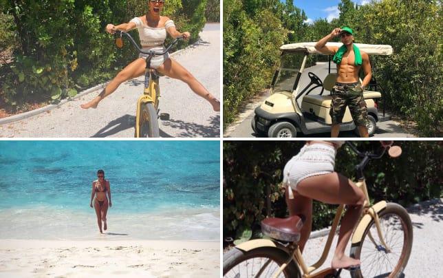 Kourtney kardashian on a bike