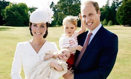 Princess Charlotte Christening Photos: Revealed! Adorable!