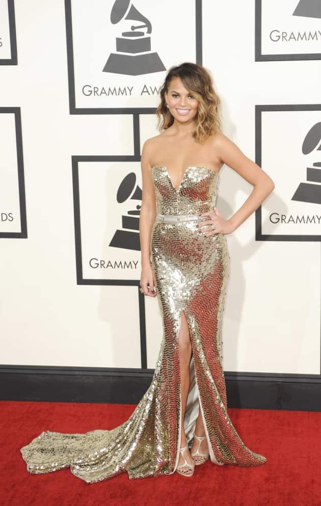 Chrissy Teigen at the Grammys