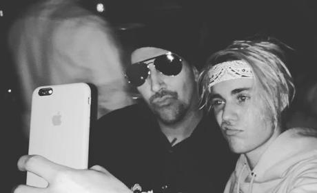 Justin Bieber and Marilyn Manson Photo