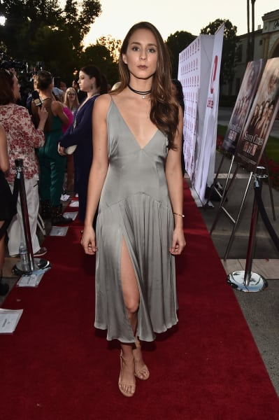 Troian Bellisario in Gray
