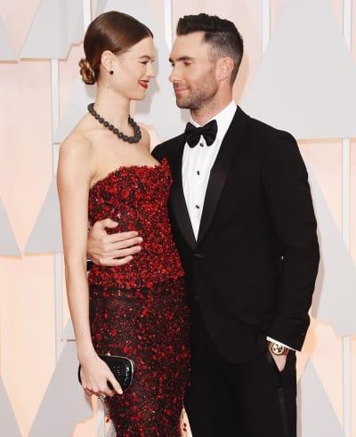 Adam Levine and Behati Prinsloo Oscars