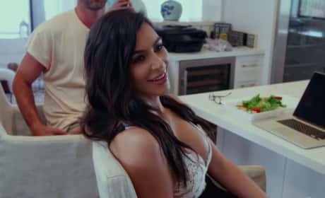 Kim Kardashian Relaxes