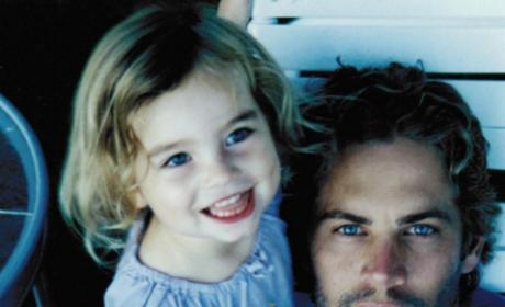 Paul with daughter Meadow Walker