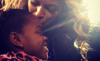 Beyonce Kisses Madonna's Daughter: Caught on Camera!