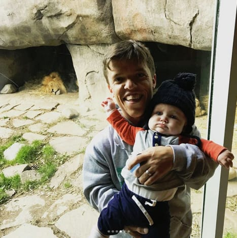Zach Roloff and Baby Jackson at the Zoo