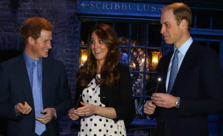 Prince Harry, Prince William and Kate Middleton